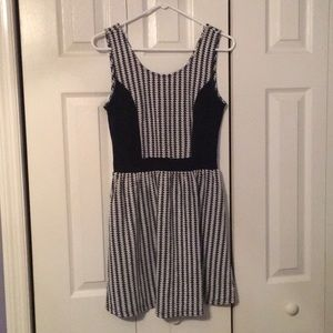 Charming Charlie black and white date night dress